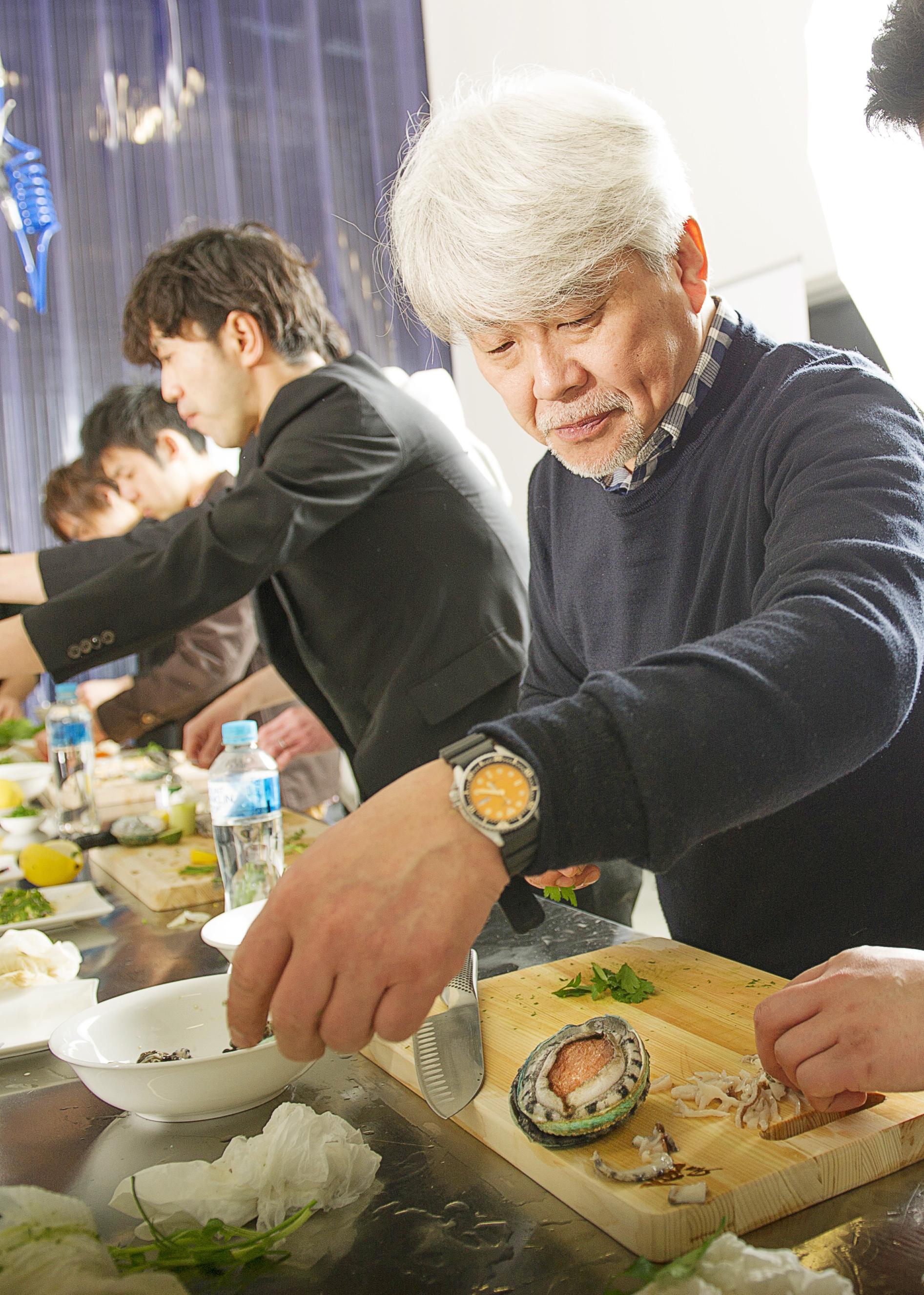World Respected Japanese Chefs Visit Jade Tiger Abalone
